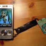 初音ミク (Hatsune Miku) cellphone strap.